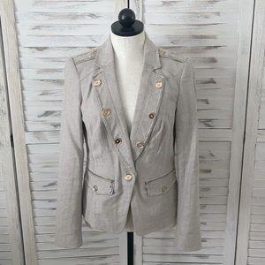 White House Black Market military jacket blazer